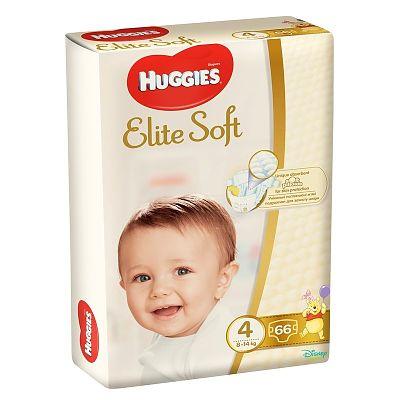 Huggies Scutece bebelusi, ELITE SOFT 4 (66) 8-14 KG