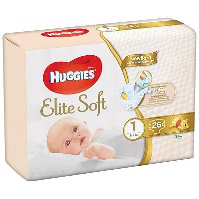 Huggies Scutece bebelusi NewBorn, Elite Soft Nr.1 (26) 2-5kg