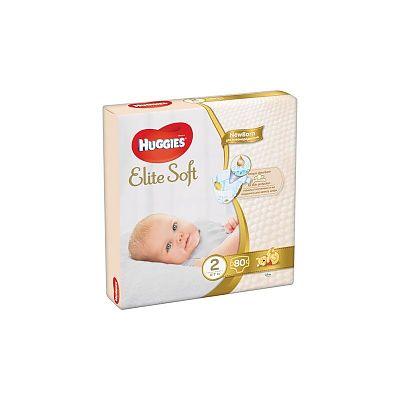 Huggies Scutece copii nr.2 Elite Soft, 4-7 kg, 80 bucati