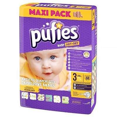 pufies Scutece Nr.3 Baby Art Midi, 4-9 kg, 68 buc