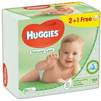 Huggies Servetele umede copii cu ALOE TRIO - 3X64 buc