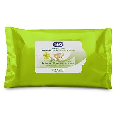 Chicco Servetele umede protectie naturala impotriva tantarilor Chicco, 20buc, 6luni+