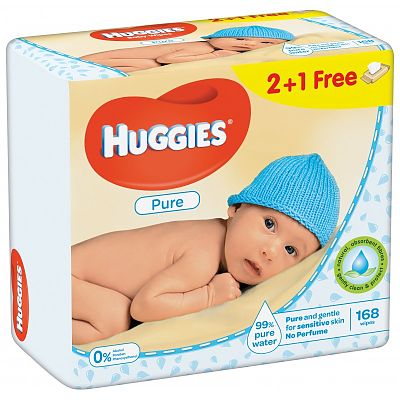 Huggies Servetele umede PURE TRIO 56X3
