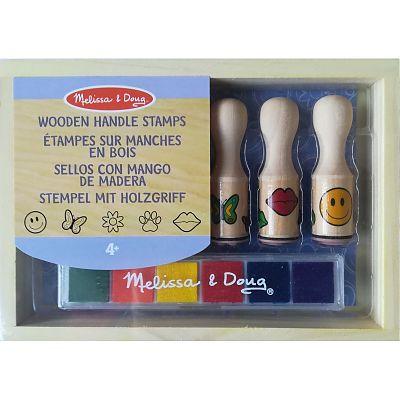Melissa&Doug Set de stampile Happy Handle